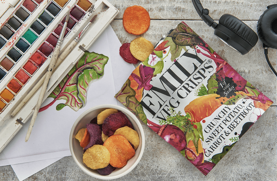 Emily Crisps are delighted to announce the launch of their new range of Vegetable Crisps