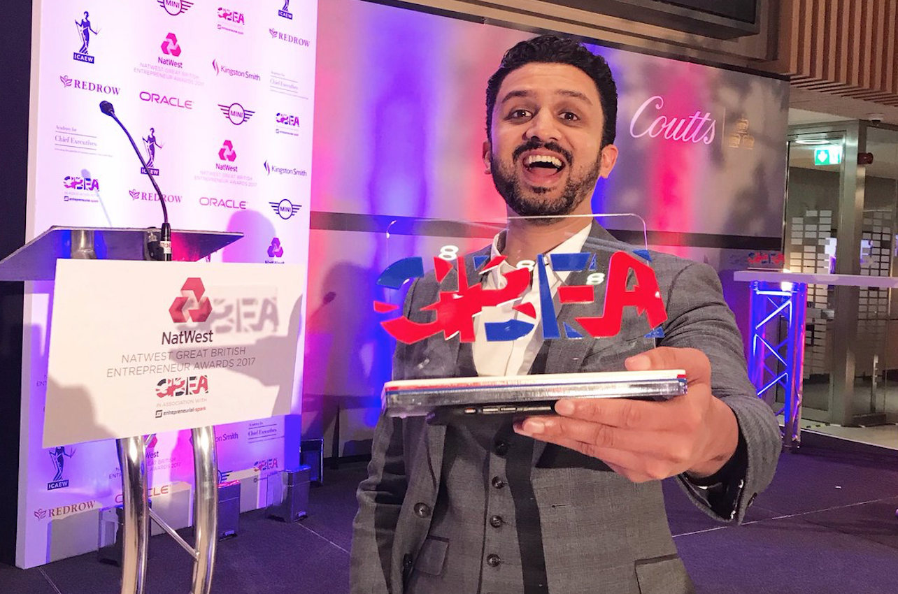 Charity Chairman wins prestigious National Great British Entrepreneurship Award