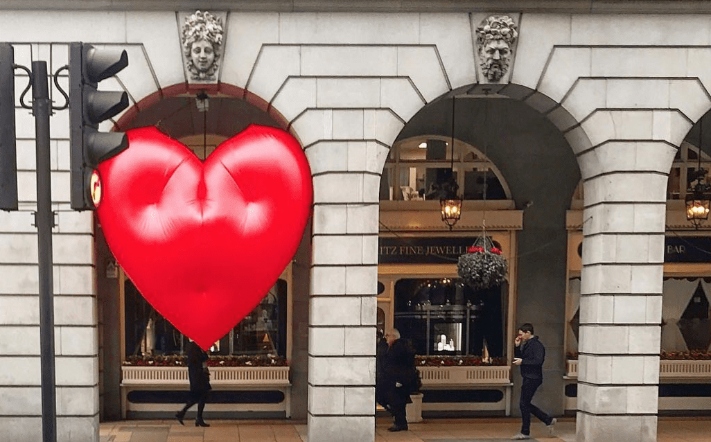 Chubby Hearts by Anya Hindmarch transform London's famous Landmanrks